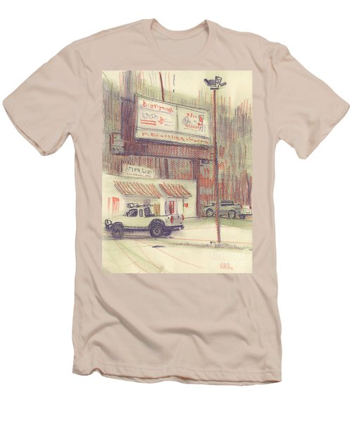 Men's T-Shirt (Slim Fit) featuring the painting Mexican Take Out by Donald Maier
