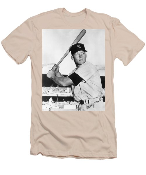 Mickey Mantle At-bat Men's T-Shirt (Athletic Fit)