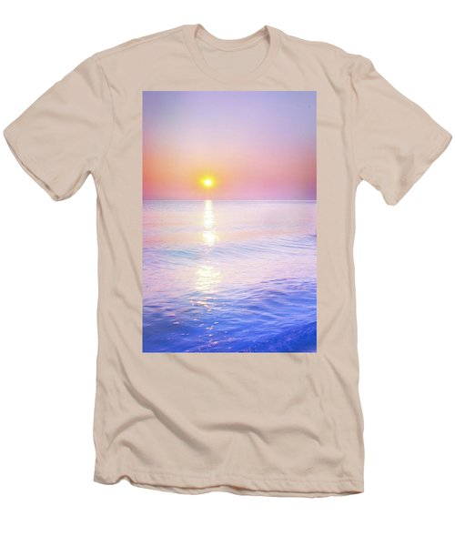 Men's T-Shirt (Slim Fit) featuring the photograph Milky Sunset by Lilia D