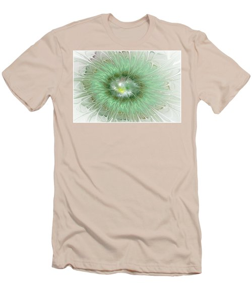 Men's T-Shirt (Slim Fit) featuring the digital art Mint Green by Svetlana Nikolova