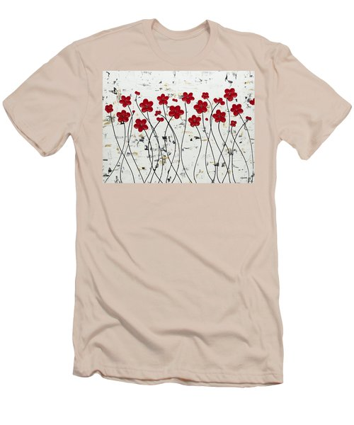 Mis Amores Men's T-Shirt (Slim Fit) by Carmen Guedez