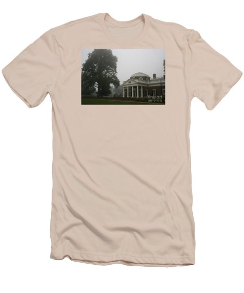 Misty Morning At Monticello Men's T-Shirt (Slim Fit) by Christiane Schulze Art And Photography