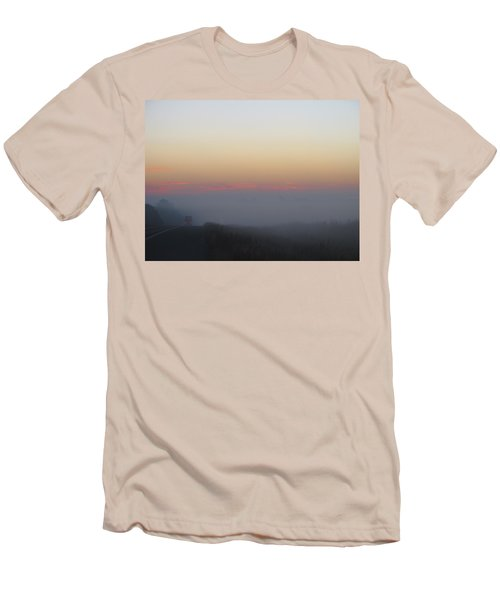 Misty Morning Road Men's T-Shirt (Athletic Fit)