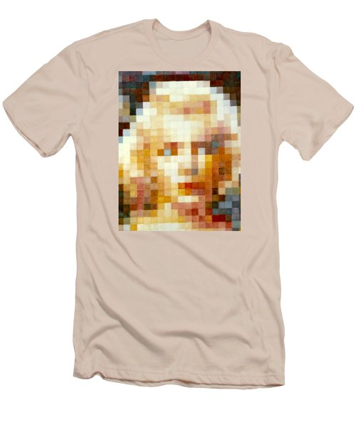 Men's T-Shirt (Slim Fit) featuring the painting Marylin by Henryk Gorecki