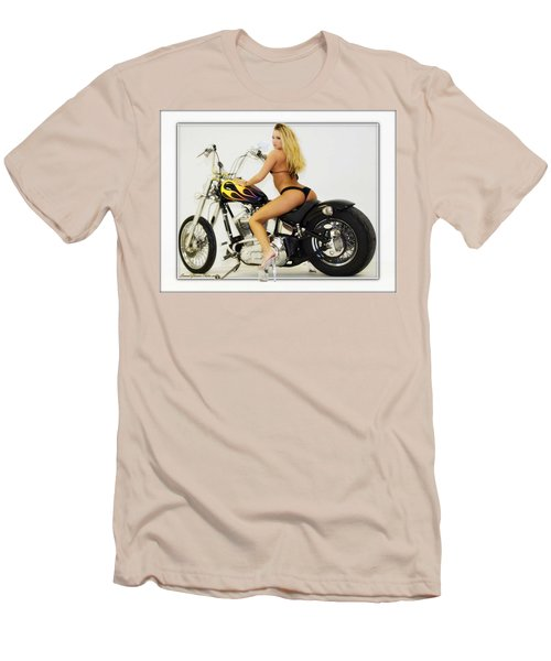 Models And Motorcycles_k Men's T-Shirt (Athletic Fit)