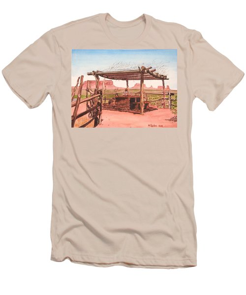 Monument Valley Overlook Men's T-Shirt (Slim Fit) by Mike Robles