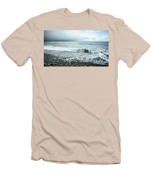 Moody Shoreline French Beach Men's T-Shirt (Athletic Fit)
