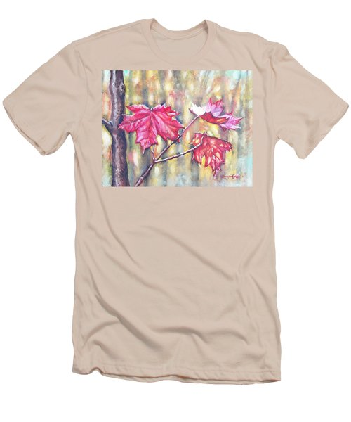 Morning After Autumn Rain Men's T-Shirt (Slim Fit) by Shana Rowe Jackson