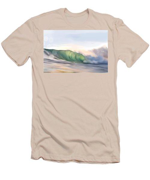 Men's T-Shirt (Slim Fit) featuring the painting Morning Break by Dawn Harrell