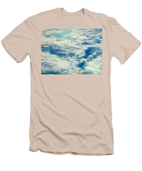 Men's T-Shirt (Slim Fit) featuring the photograph Mostly Cloudy by Mark Greenberg