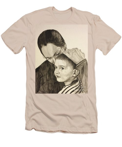 Men's T-Shirt (Slim Fit) featuring the painting Mother's Love by Tamir Barkan