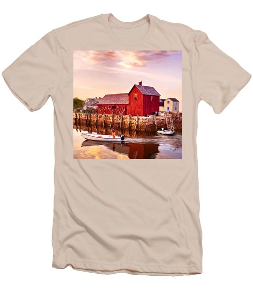 Motif Number One Rockport Massachusetts  Men's T-Shirt (Athletic Fit)