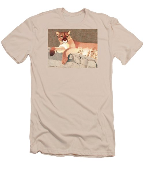 Mountain Lion Men's T-Shirt (Slim Fit) by Dan Miller