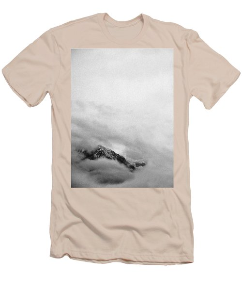 Mountain Peak In Clouds Men's T-Shirt (Slim Fit) by Peter v Quenter