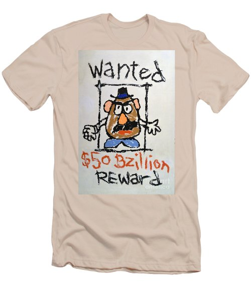 Men's T-Shirt (Slim Fit) featuring the photograph Mr. Potato Head Gone Bad by Robert Meanor