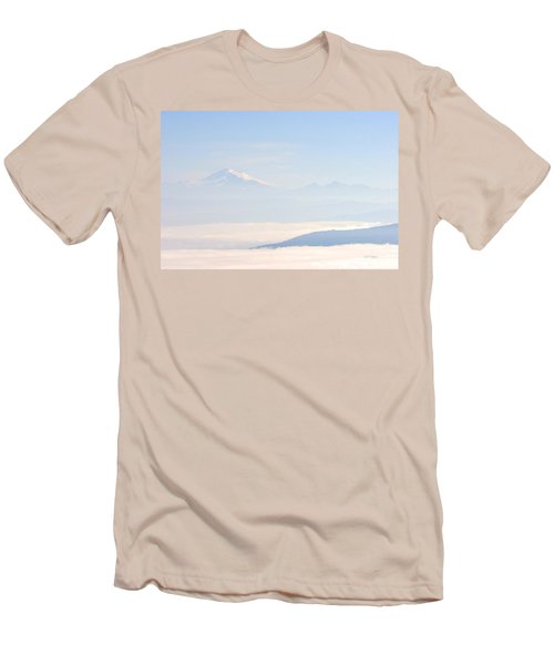 Mt. Baker From San Juan Islands Men's T-Shirt (Athletic Fit)