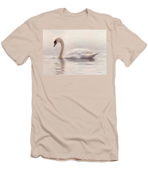 Mute Swan Painting Men's T-Shirt (Athletic Fit)