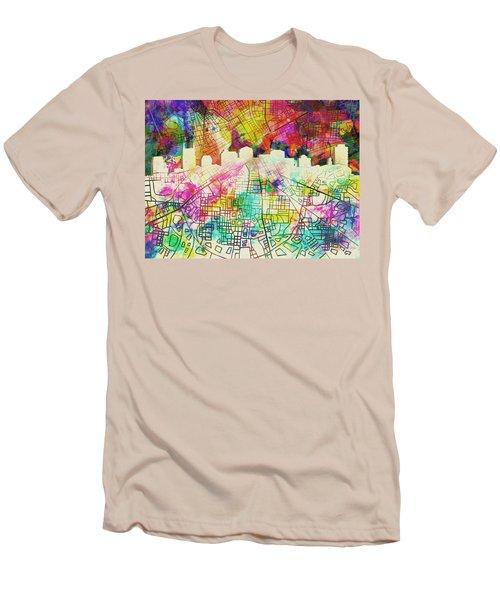 Nashville Skyline Watercolor 7 Men's T-Shirt (Athletic Fit)