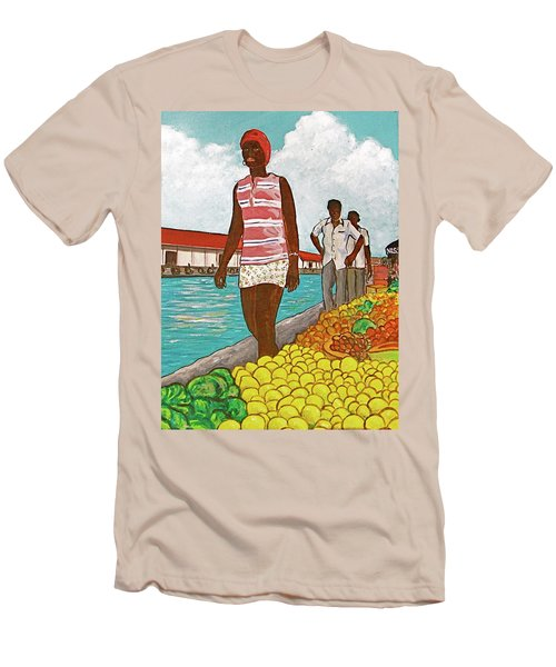 Nassau Woman Men's T-Shirt (Slim Fit) by Frank Hunter