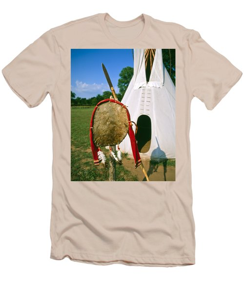 Native American Shield And Spear Men's T-Shirt (Athletic Fit)