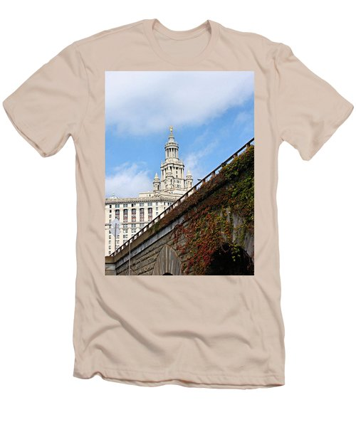 Men's T-Shirt (Slim Fit) featuring the photograph New York City Hall by Kristin Elmquist