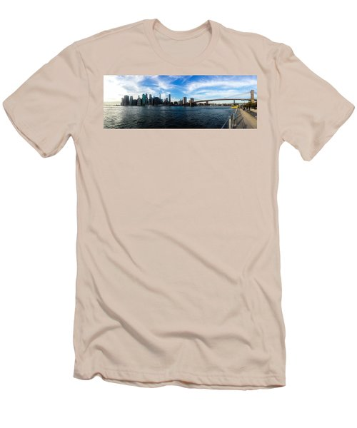 New York Skyline - Color Men's T-Shirt (Slim Fit) by Nicklas Gustafsson