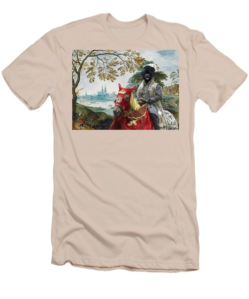 Newfoundland Art - Pasague With Duke Men's T-Shirt (Athletic Fit)