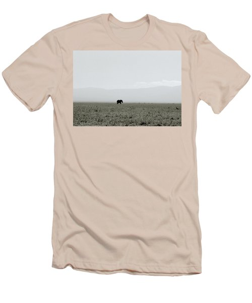 Ngorongoro Crater Men's T-Shirt (Slim Fit) by Shaun Higson