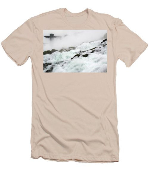 Niagara Falls With Observation Tower Behind Men's T-Shirt (Athletic Fit)