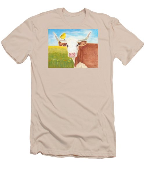 Men's T-Shirt (Slim Fit) featuring the painting No Tree Necessary by Arlene Crafton
