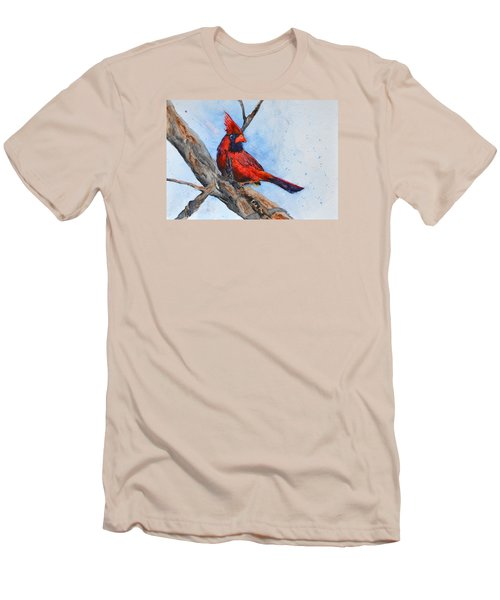 Men's T-Shirt (Slim Fit) featuring the painting Noble Overseer by Beverley Harper Tinsley
