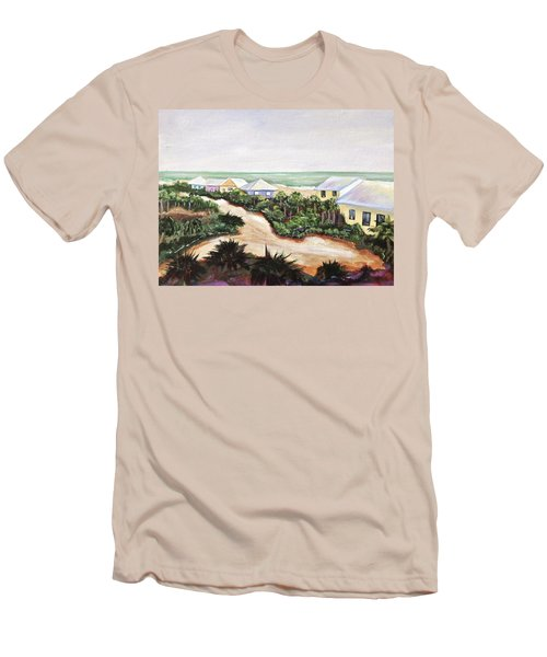 Men's T-Shirt (Slim Fit) featuring the painting North Captiva by Patricia Piffath