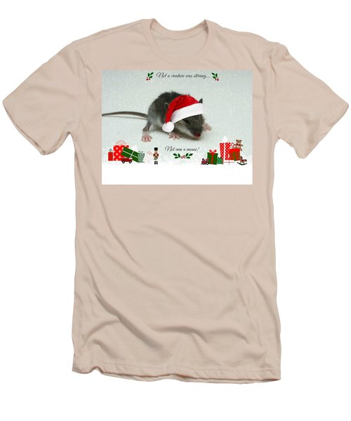 Not A Creature Was Stirring Men's T-Shirt (Athletic Fit)