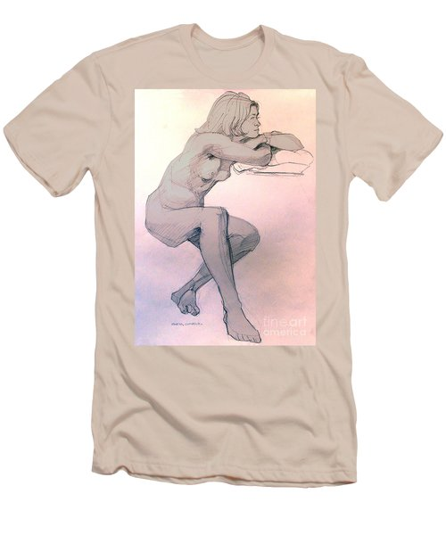 Nude Of A Dreamy Young Woman Men's T-Shirt (Athletic Fit)