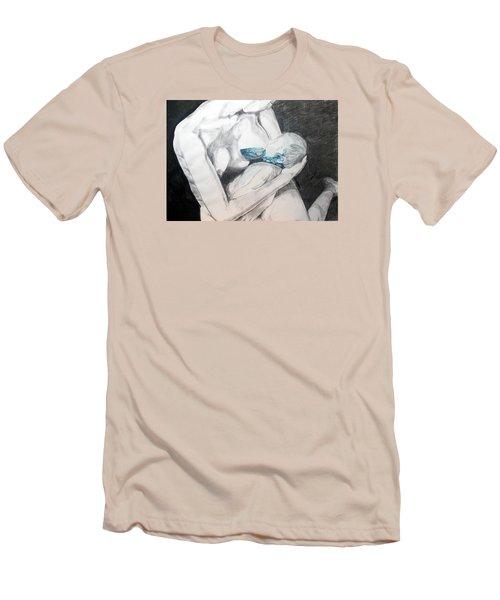 Nurturing The Sea Men's T-Shirt (Slim Fit) by Lazaro Hurtado