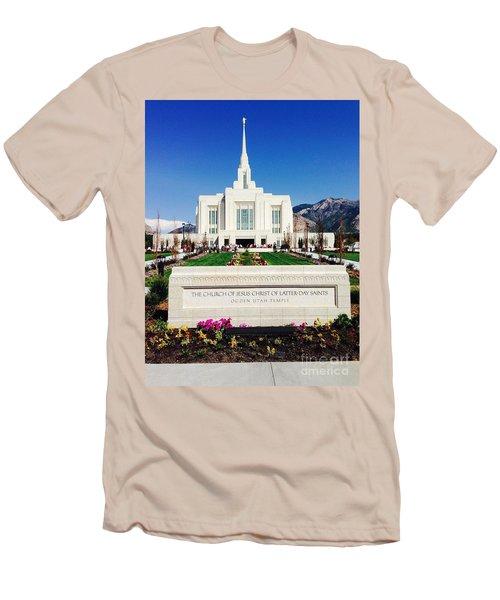 Ogden Temple 1 Men's T-Shirt (Slim Fit) by Richard W Linford