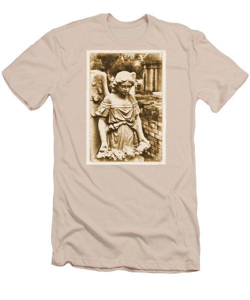 Blessed Angel   Men's T-Shirt (Slim Fit) by Nadalyn Larsen