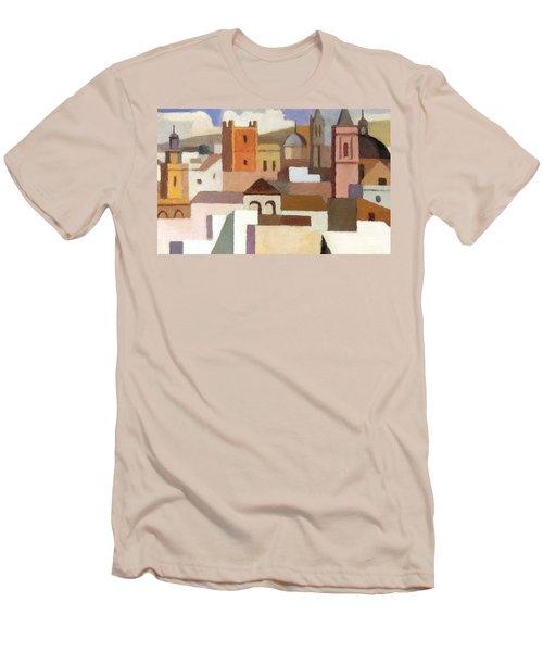 Old Jerusalem Men's T-Shirt (Slim Fit) by Munir Alawi
