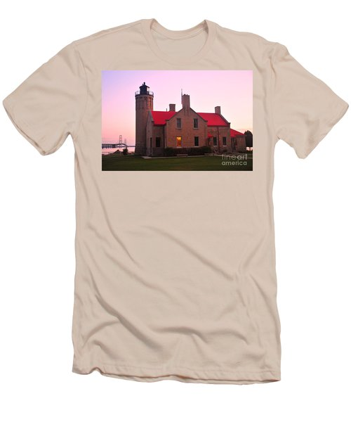 Men's T-Shirt (Slim Fit) featuring the photograph Old Mackinac Point Lighthouse by Terri Gostola