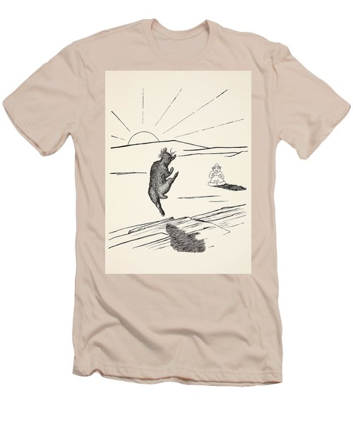 Old Man Kangaroo Men's T-Shirt (Athletic Fit)