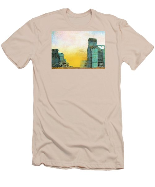Old Used Grain Elevator Men's T-Shirt (Slim Fit) by Janette Boyd