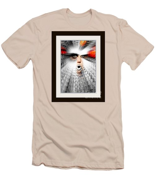 Men's T-Shirt (Slim Fit) featuring the painting OMG by Rafael Salazar