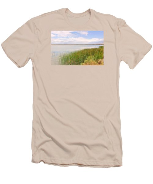 Men's T-Shirt (Slim Fit) featuring the photograph On Shore by Marilyn Diaz