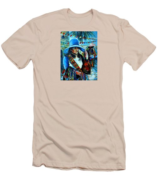 On The Streets Of Bucerias. Part Two Men's T-Shirt (Slim Fit)