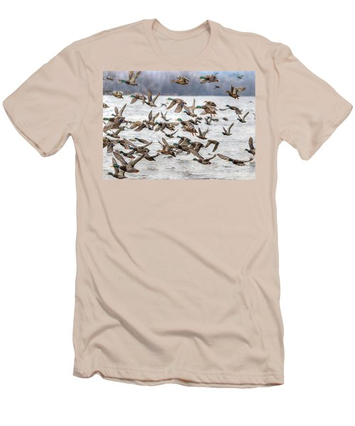 Men's T-Shirt (Slim Fit) featuring the photograph One Direction One by Robert Pearson