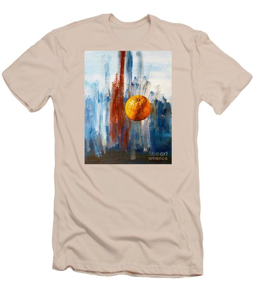 Orange Men's T-Shirt (Slim Fit) by Arturas Slapsys