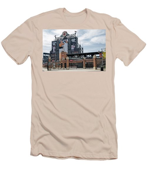 Oriole Park At Camden Yards Men's T-Shirt (Slim Fit) by Susan Candelario
