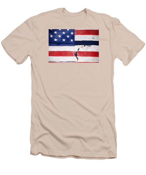 Men's T-Shirt (Slim Fit) featuring the photograph Out Of The Rubble  September 11 2001 by John Schneider