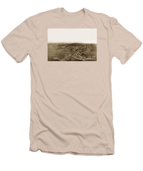 Pacific Grove 1200 From Feet Above Lovers Point And Monterey Bay 1906 Men's T-Shirt (Athletic Fit)