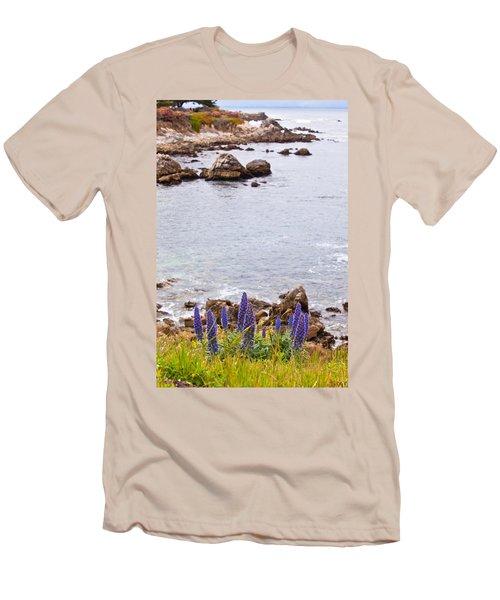 Pacific Grove Coastline Men's T-Shirt (Slim Fit) by Melinda Ledsome